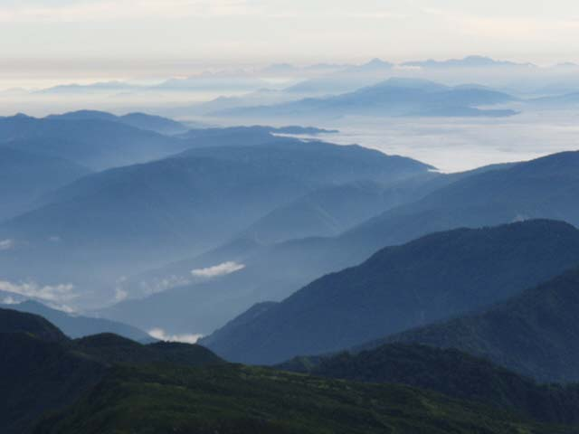 白山から北アルプス