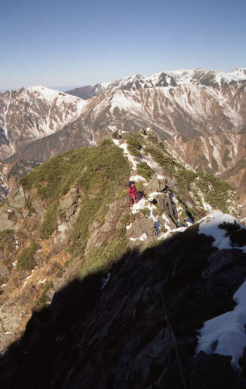 南岳西尾根 2001/11/23-25