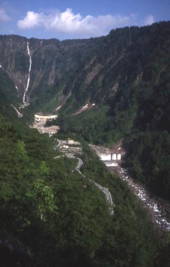 三枚滝を越える 1990/6月