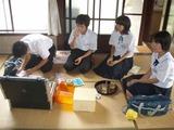 水橋地区中学生配置薬実習
